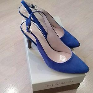 Franco Sarto Sapphire blue suede heels